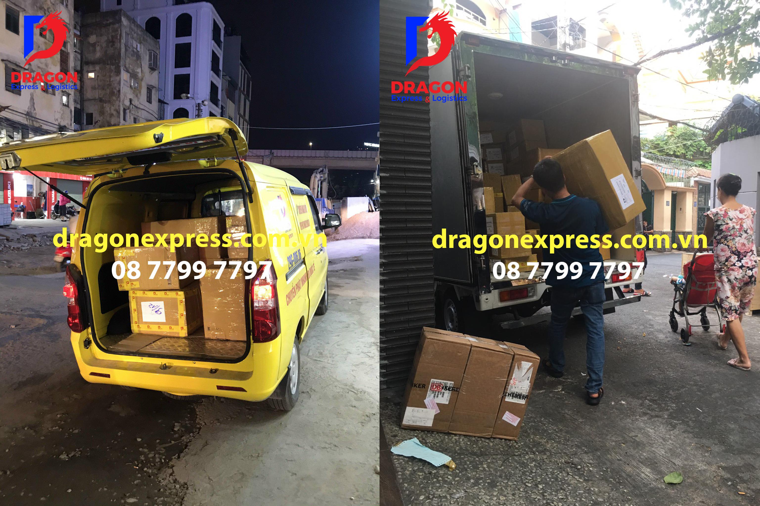 Dragon xuất hàng đi gửi hàng